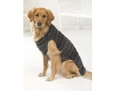 Free crochet dog sweater patterns for the pets pinterest dog marley dog sweater crochet solutioingenieria Choice Image