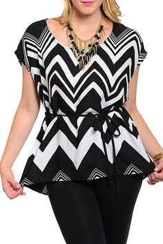 DHStyles Women's Black White Plus Size Trendy Sexy Chevron Top With Rope Belt #sexytops #clubclothes #sexydresses #fashionablesexydress #sexyshirts #sexyclothes #cocktaildresses #clubwear #cheapsexydresses #clubdresses #cheaptops #partytops #partydress #haltertops #cocktaildresses #partydresses #minidress #nightclubclothes #hotfashion #juniorsclothing #cocktaildress #glamclothing #sexytop #womensclothes #clubbingclothes #juniorsclothes #juniorclothes #trendyclothing #minidresses…