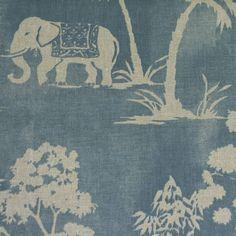 Mandir Fabric - Denim (F0760/03) - Clarke & Clarke Indienne Fabrics Collection