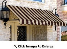 Awntech Beauty Mark Dallas Retro Large Home/Commercial Window/Entry 44 Inch Height x 48 Inch Projection Awning (Select Width) - $289.95 - black, no scallop