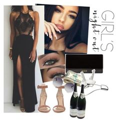 """""""Untitled #57"""" by xmiajohnn ❤ liked on Polyvore featuring Gianvito Rossi, Balmain, Georg Jensen, Chloé and girlsnightout"""