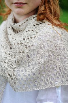 Ravelry: Lida Shawl pattern by Bristol Ivy - in linen yarn from Quince