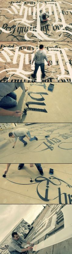 """Urban Calligraphy """"Skyfall"""" with Simon Silaidis - PinPhoto. Gothic Lettering, Hand Drawn Lettering, Types Of Lettering, Lettering Design, Calligraphy Letters, Typography Letters, Typographie Fonts, Graffiti, Penmanship"""