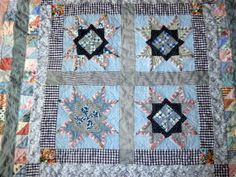 Quilt started in 1978 (!) and finished in 2012.