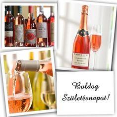 Happy Birthday Cards, Celebration, Bottle, Rose, Pink, Flask, Roses, Jars, Anniversary Cards