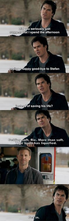 The Vampire Diaries TVD 7X18 - Damon and Rick
