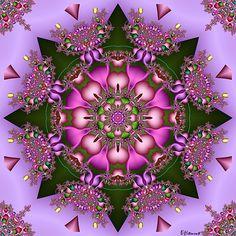 Colorful Star by VDH Fractal Fractal Flower Of Life, Flower Art, Crystal Mandala, Hippie Art, Visionary Art, Mandala Coloring, Psychedelic Art, Community Art, Fractal Art
