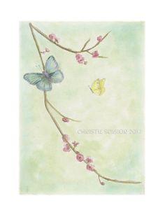 watercolor butterflies by Christie Scibior