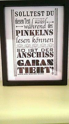 Poster Kunstdruck witzig Stehpinkler Toilette A4 Neu