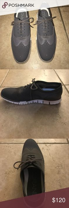 Men's Cole Haan ZEROGRAND wing tip oxford Worn maybe twice, great condition grey color. These can be worn casual and dressed up Cole Haan Shoes Sneakers