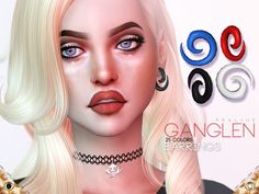 Earrings in 25 colors. Found in TSR Category 'Sims 4 Female Earrings'