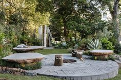 New trends: Organic bluestone steppers and paving still continues to dominate landscape designs in 2017. This year also brings the intorduction of raised stone platforms for use as seating and free-form stairs. This trend will no doubt continue into 2018, based upon it's current popularity. This year the MIFGS Gold Show Garden Award went to 'I See Wild' designed by Phillip Withers Landscape Design, as pictured.