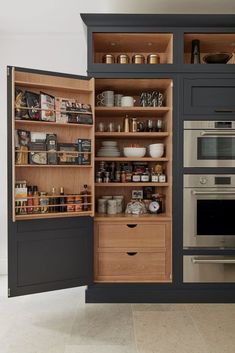Nice 40 Clever Kitchen Storage Ideas and Trends to Minimize Your Kitchen . - Nice 40 Clever Kitchen Storage Ideas and Trends to Minimize Your Kitchen Crises … – - Clever Kitchen Storage, Kitchen Pantry Design, New Kitchen Cabinets, Home Decor Kitchen, Interior Design Kitchen, Kitchen Organization, Awesome Kitchen, Soapstone Kitchen, Organization Ideas