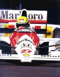 Ayrton Senna (Monaco 1990) - Ayrton Senna da Silva (BRA) (Honda Marlboro McLaren), McLaren MP45B - Honda RA109E 3.5 V10 (finished 1st) -  1990 Monaco Grand Prix, Circuit de Monaco