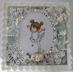 Elegantly Crafted: Dainty Dancing card- Lili of the valley stamp