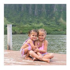 There is no better friend than a sister. And no better sister than you.  #kimi_and_li_bikini #kidsbikinis #stella and #fringe bikini | sweetness via @alohaphotostudios