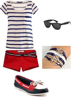 """""""Day at the Beach"""" by jackiepruitt ❤ liked on Polyvore"""