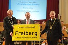 Nun offiziell - Wir sind Universitätsstadt! | TU Bergakademie Freiberg