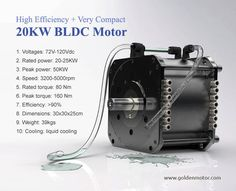electric car motor, 20KW electric car motor, 20KW BLDC Motor