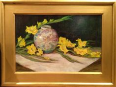 """""""Yellow Glads"""" by Lu Haskew available through Columbine Gallery on Amazon Fine Art"""