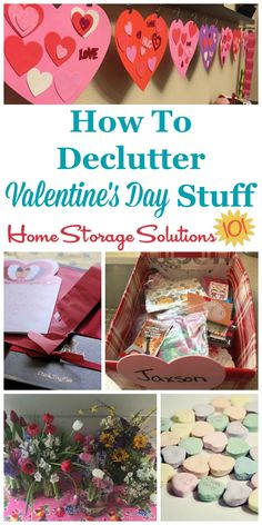 How to #declutter Valentine's decorations, candy, flowers, cards and more {a #Declutter365 mission on Home Storage Solutions 101} #ValentinesDay