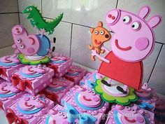 4th Birthday Parties, 2nd Birthday, Peppa E George, Cumple Peppa Pig, Pig Birthday Cakes, Pig Party, Cook Party, Birthday Decorations, First Birthdays