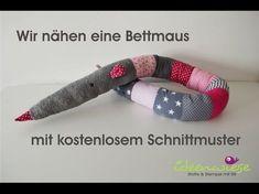 Ideenwiese: Die Bettmaus - Kostenloses Schnittmuster und Anleitung - bettschlange /Bettschnecke als Maus