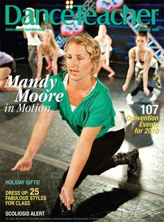 Choreographer Mandy Moore on Dance Teacher's December 2009 cover