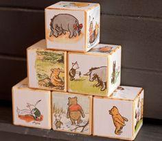 Wooden Blocks Winnie the Pooh by BarneyandBoo