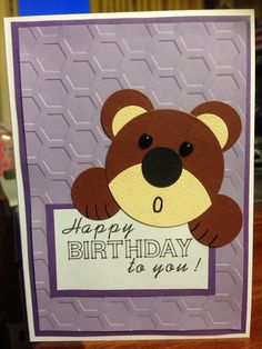 Birthday bear card - made by Melrose