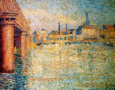 Bridge in London by Jean Theodoor Toorop (1858-1928, Indonesia)
