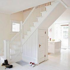 White on white staircase #stairs