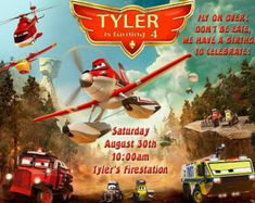 Planes Fire and Rescue Invitation ---this is simply adorable