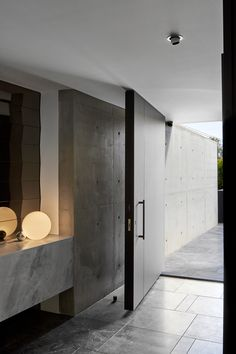 Moonee Ponds Residence by Architecton - Project Feature - The Local Project - The Local Project Contemporary Front Doors, Contemporary Interior, Minimalist Architecture, Interior Architecture, Interior Design, Dark Front Door, Door Design, House Design, Melbourne House