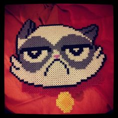 Grumpy Cat hama beads by madame_citron