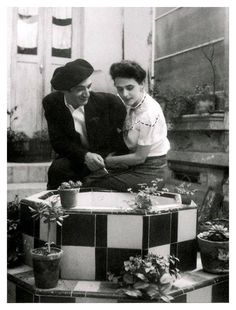 Leonora Carrington & Chiki Weiss on their wedding day, Mexico City, 1946. Photo by Kati Horna