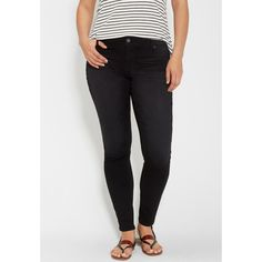 maurices Plus Size - Denimflex™ Jegging In Black, Women's, Jegging ($39) ❤ liked on Polyvore featuring plus size women's fashion, plus size clothing, plus size pants, plus size leggings, plus size, plus size jeggings, plus size trousers, cotton trousers, plus size denim leggings and womens plus pants