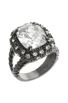 Cross Cut CZ Textured Ring by Kenneth Jay Lane on @HauteLook