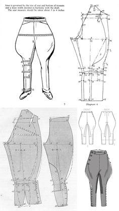 mallas Patrones de corte Lagenlook pantalones XXXL 60//62 Black /& with e