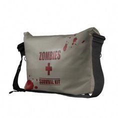 ebaad2041 Zombies Survival Kit Messenger Bag Custom Messenger Bags, Zombies Survival,  Survival Kit, Pack