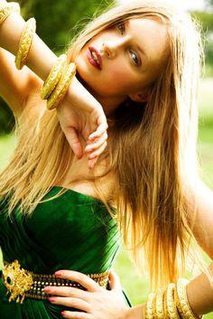 Bejeweled Emerald & Gold