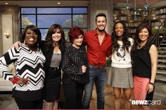 Pop country music sensation Luke Bryan discusses co-hosting the 49th Annual Academy of Country Music Awards on THE TALK, Friday, April 4, 2014 on the CBS Television Network. From left, Sheryl Underwood, Marie Osmond, Sharon Osbourne, Luke Bryan, Aisha Tyler and Julie Chen