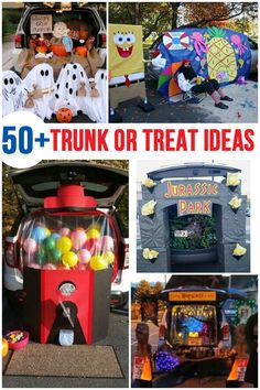 Trunk or Treat Ideas - The Nerd's Wife Clever Trunk or Treat Ideas Holidays Halloween, Halloween Treats, Halloween Party, Trunk Or Treat, Halloween Car Decorations, Halloween Traditions, Diy For Girls, Cute Crafts, Candyland