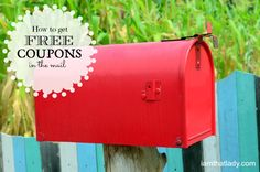how to get free coupons in the mail #coupons