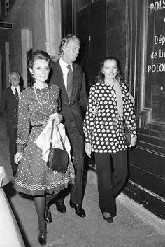 Audrey Hepburn, Hubert de Givenchy and friend