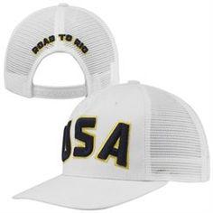 Men s White Team USA Rio Trucker Hat Team Usa c0f0e422e91a