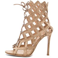 Gianvito Rossi Lace Up Cut Out Heels