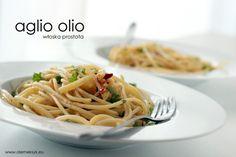 Spaghetti aglio olio czyli makaron z czosnkiem, pietruszką i oliwą