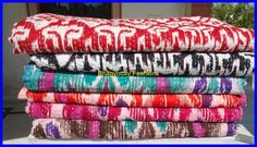 Textile Shop: SPECIAL OFFERSET OF 5 Kantha Quilts/Kantha Bedcov...