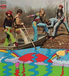 Peter Max for Wrangler Seventeen magazine 1971